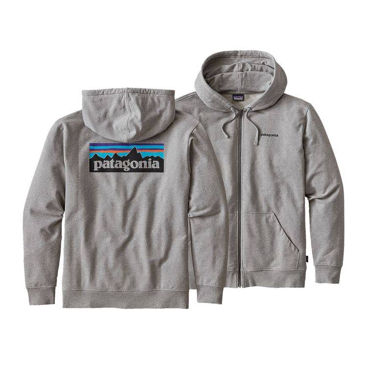 PATAGONIA Patagonia Mens P-6 Logo Midweight Full-Zip Hoody