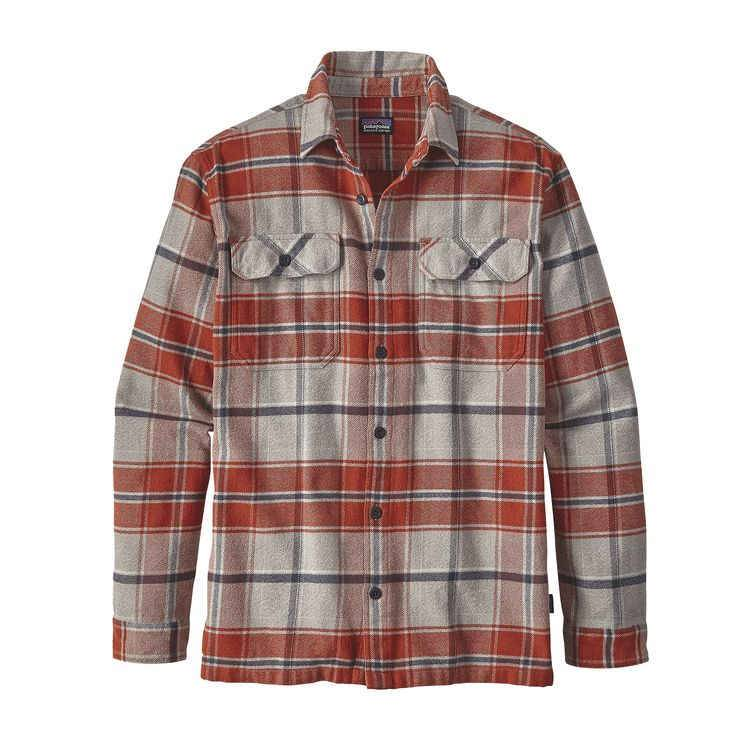 PATAGONIA PATAGONIA MENS LONG-SLEEVED FJORD FLANNEL SHIRT - ON SALE!!