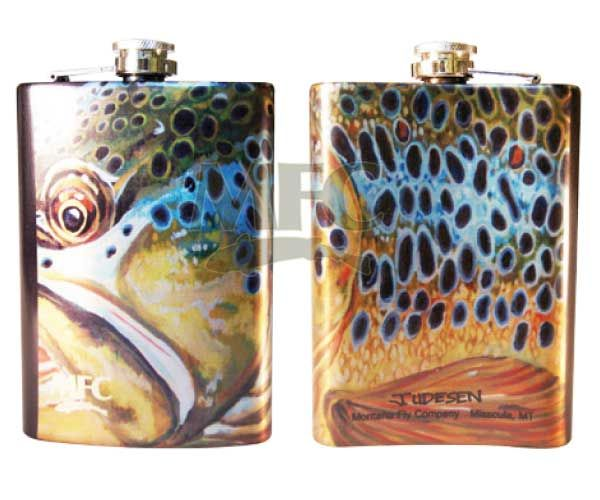 MONTANA FLY MFC STAINLESS STEEL HIP FLASK - UDESEN'S MONTANA BROWN
