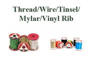 THREAD WIRE TINSEL MYLAR AND VINYL RIB