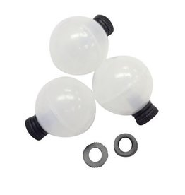 "AIRLOCK AIRLOCK STRIKE INDICATOR CLEAR  3/4"" - 3 PACK"