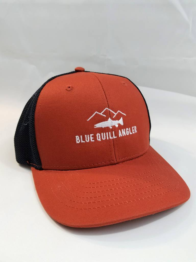 BLUE QUILL ANGLER BQA LOGO POLY MESH TRUCKER