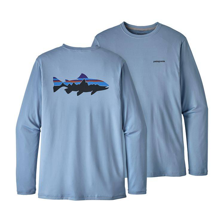 PATAGONIA PATAGONIA GRAPHIC TECH FISH TEE - ON SALE