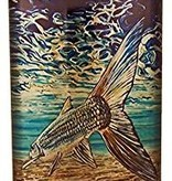 MONTANA FLY MFC STAINLESS STEEL HIP FLASK - UDESEN BONEFISH TAIL