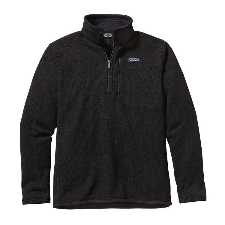 Patagonia Mens Better Sweater 14 Zip Blue Quill Angler