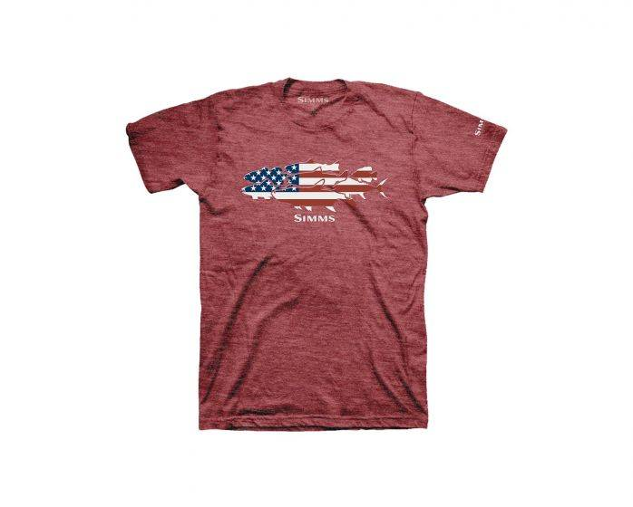 SIMMS SIMMS FLAG SPECIES T-SHIRT - ON SALE 35% OFF