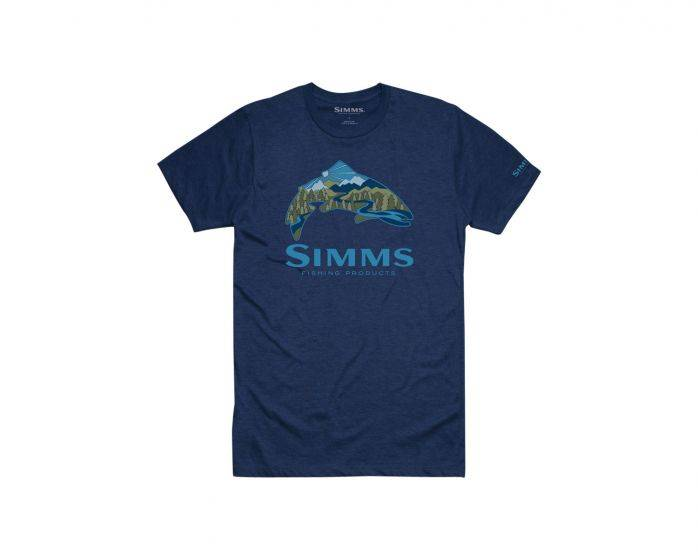 SIMMS SIMMS TROUTSCAPE T-SHIRT - ON SALE 35% OFF