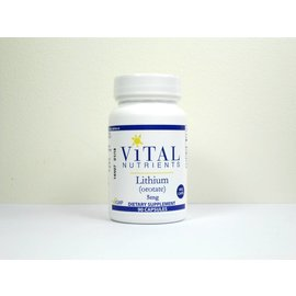 Vital Nutrients Lithium Orotate 5mg