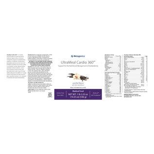 Metagenics UltraMeal Cardio 360 Pea/Rice Vanilla