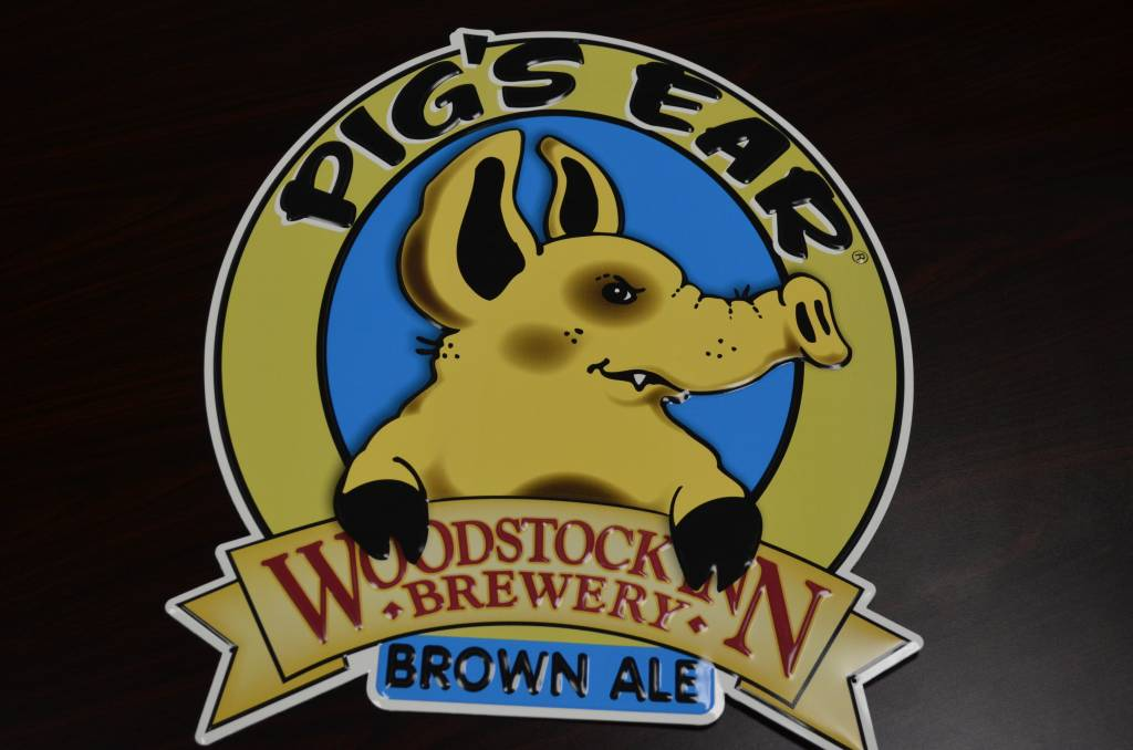 Pigs Ear Brown Ale Large Tin Sign