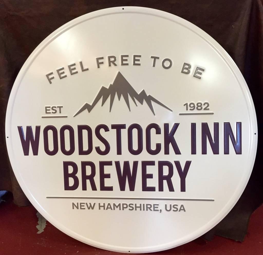 New woodstock inn logo tin sign