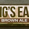 Pigs Ear Wood Sign 17 1/2 x 5 1/2 x 1