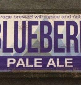 Lemon Blueberry Pale Ale Wood Sign 17 1/2 x 5 1/2