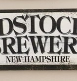 Woodstock Inn Brewery Wood Sign 17 1/2 x 5 1/2