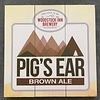 Pigs Ear Brown Ale 10 1/2 x 10 1/2 Wood Sign