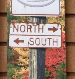 Woodstock Inn Brewery North - South 17 1/2 x 5 1/2 Wood Sign