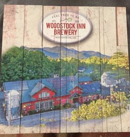 Woodstock Inn Brewery Aerial Wood Sign