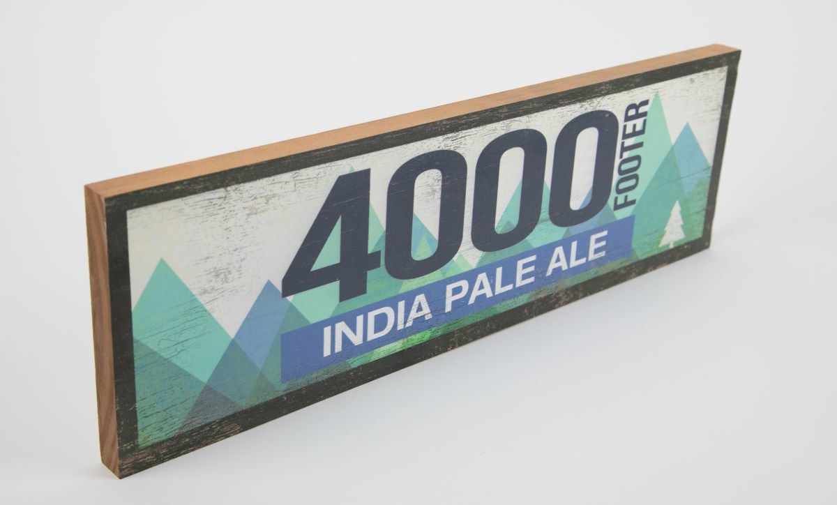 4000 Footer India Pale Ale Wood Sign 17 1/2 x 5 1/2