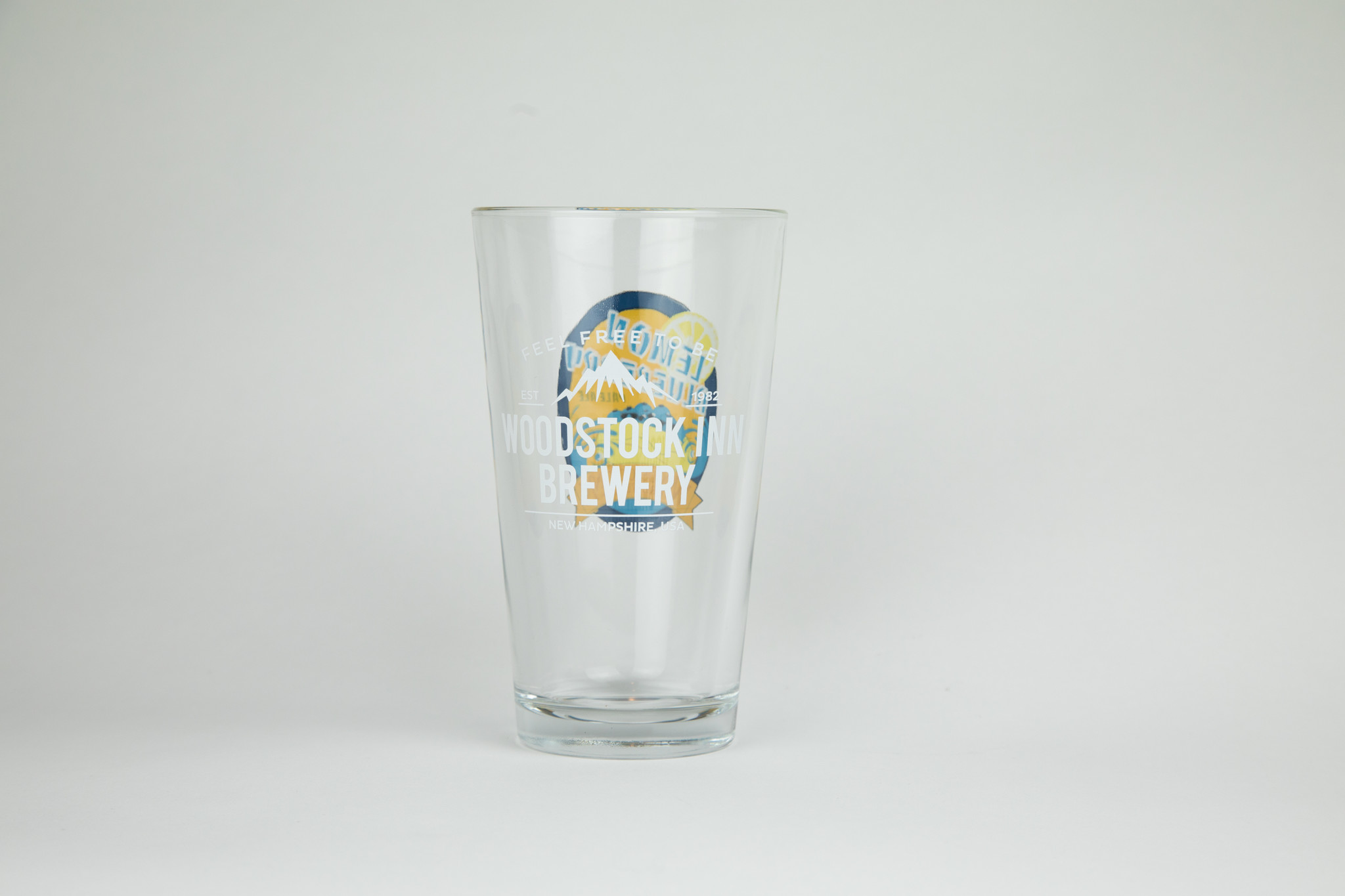 Lemon blueberry Pint glass