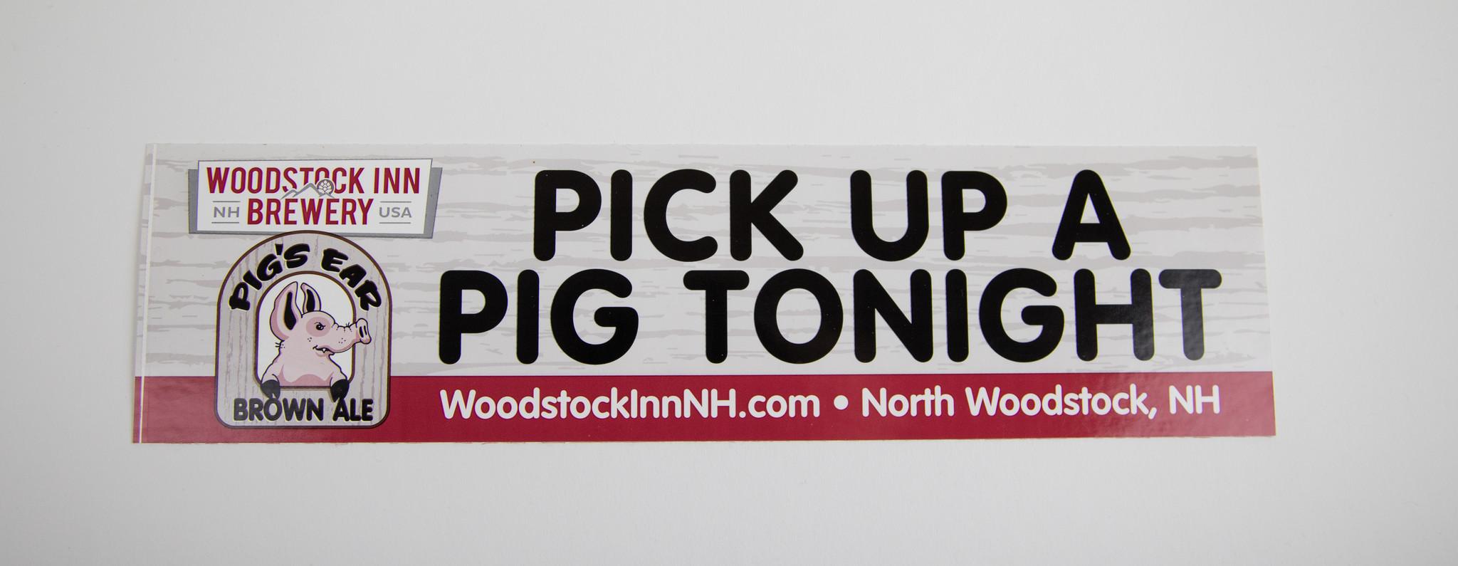 Pick Up A Pig Tonight Bumper Sticker