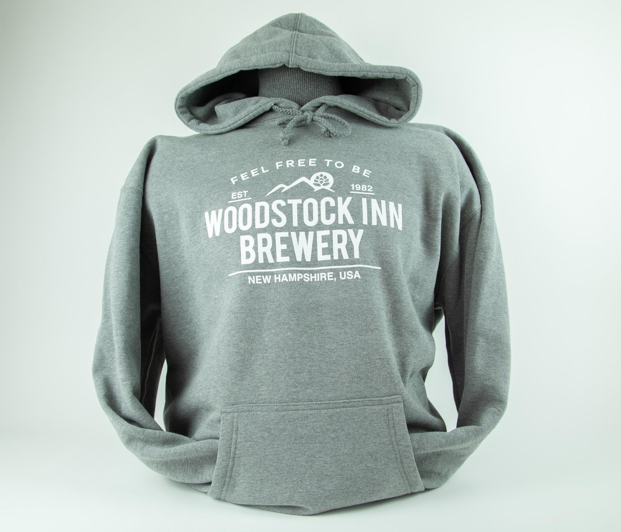 New Logo Gray Hooded Sweatshirts