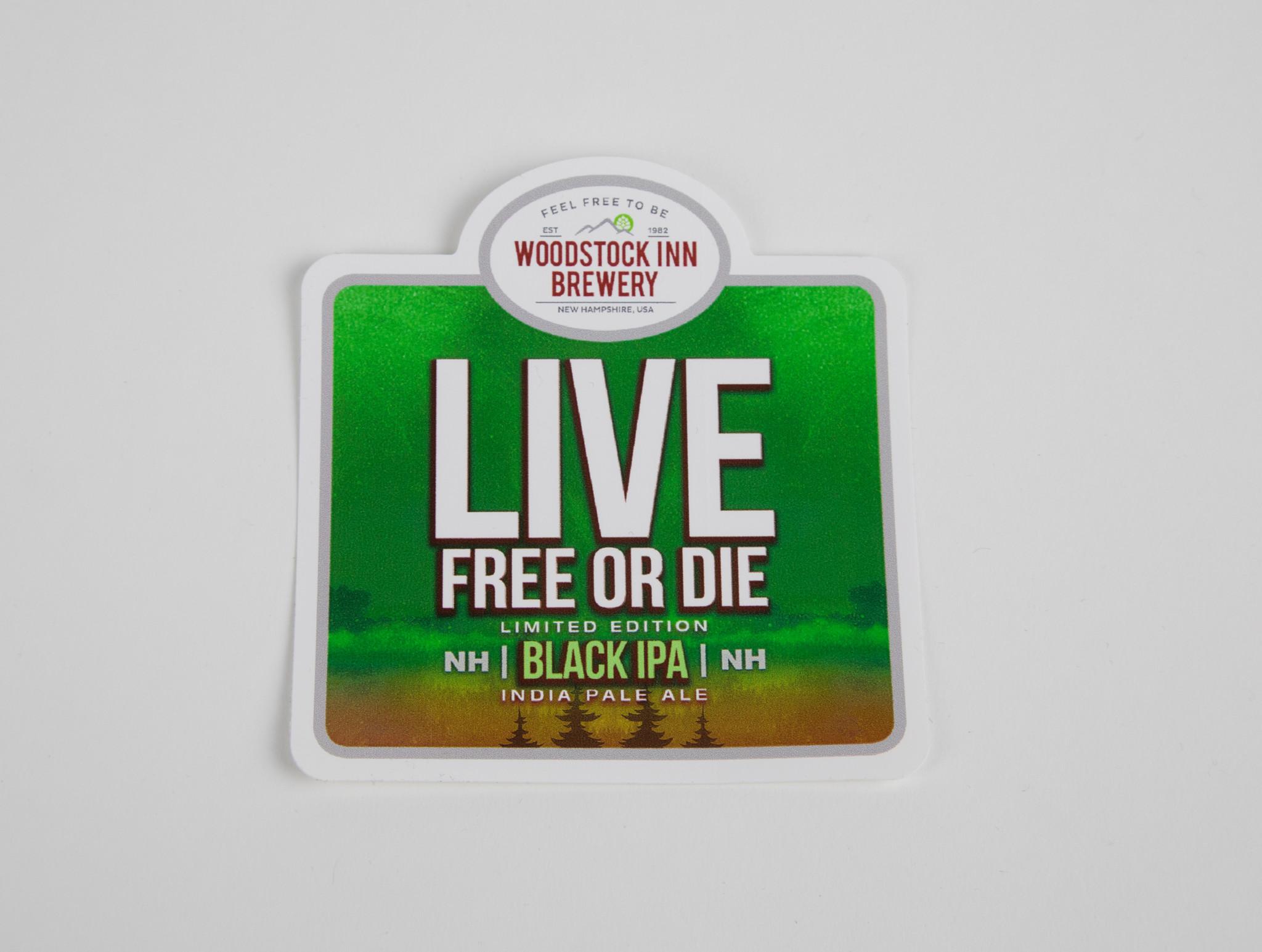 Live Free or Die Beer Sticker