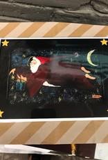 Card Flying Santa Greeting Card