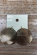 Jewelry Gold Disc Earrings