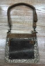 Bag Hide/Floral Print Cross Body Bag