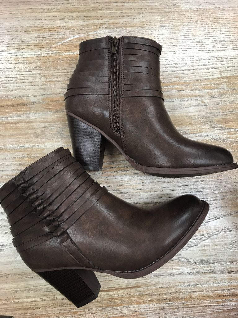 Shoes Brown Bootie w/ Ankle Detail