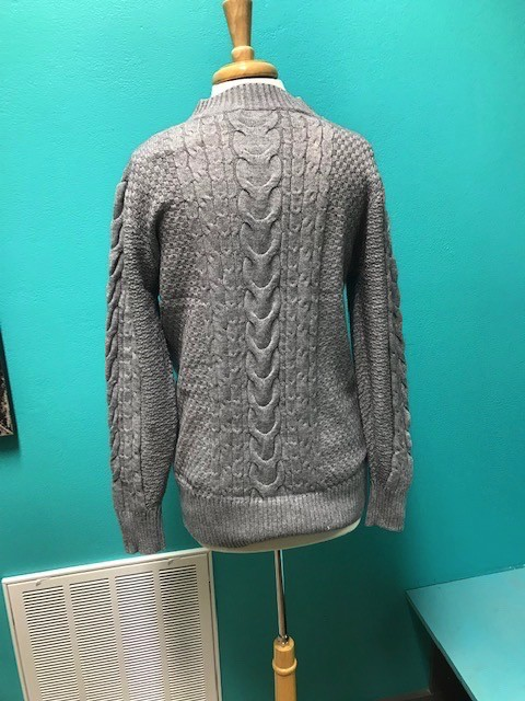 Vest Gray LS Pull Over Sweater