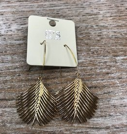 Jewelry Gold Palm Earrings