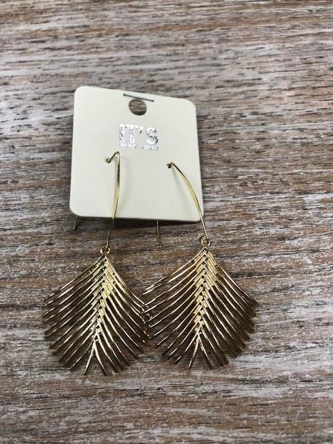 Jewelry Gold Palm Earrings