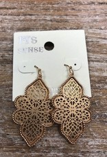 Jewelry Gold Flower Earrings