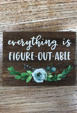 Decor Figure-Out-Able Block sign 4x3