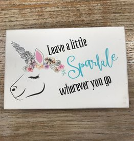 Decor Sparkle Unicorn Box Sign 4x6
