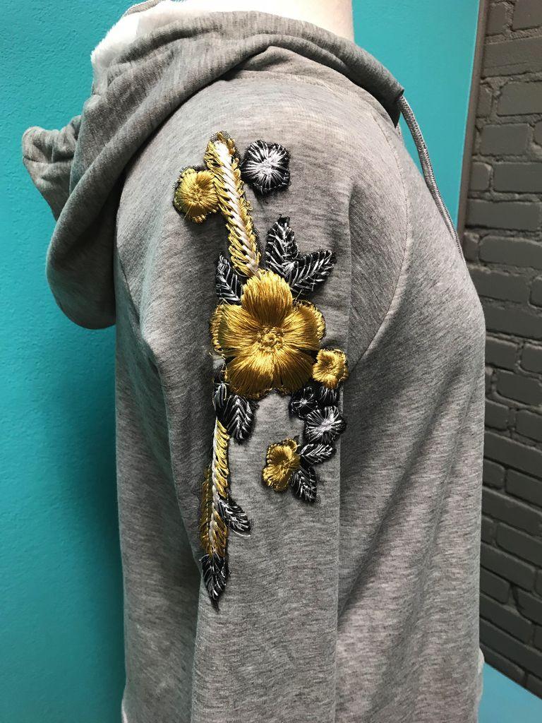 Hoodie Embroidery Detailed Pullover Hoodie