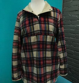 Long Sleeve Plaid LS Pullover