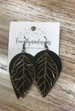 Jewelry Handmade Leather Earrings w/ Metal