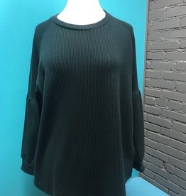 Long Sleeve Ribbed LS w/ Puff Sleeves
