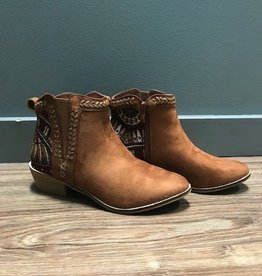 Boot Tan Aztec Zip Booties