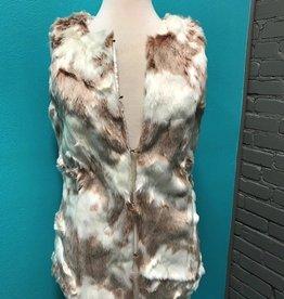 Vest Blush Faux Fur Vest