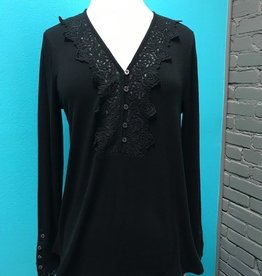 Long Sleeve Lace Detail LS Top