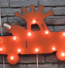 Decor Lighted Truck w/ Crown