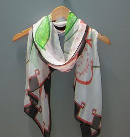 Accessory 100% Silk Scarf-Aristotle