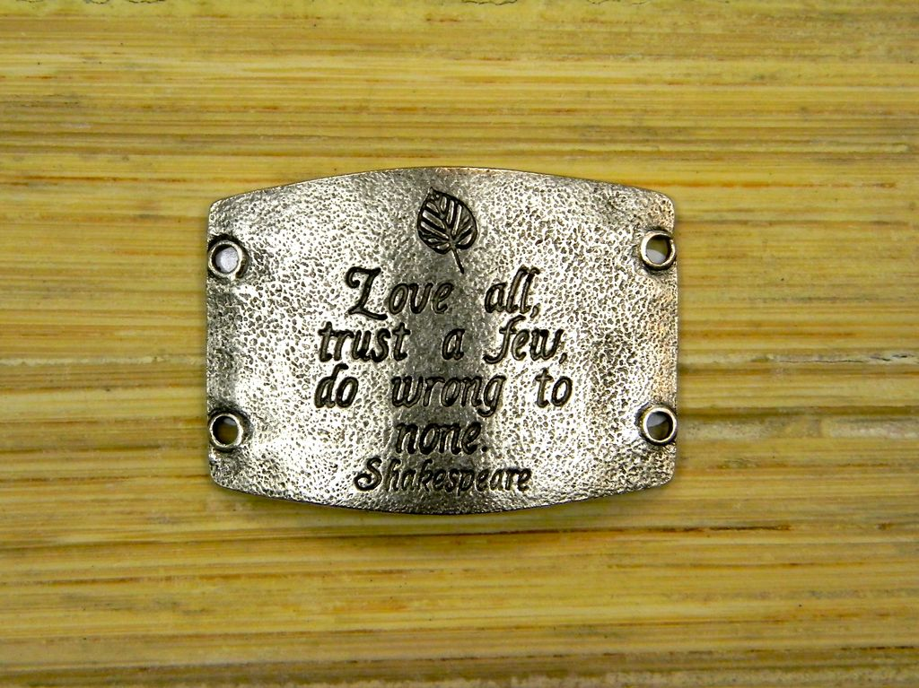 Jewelry Love All, Trust A Few Sentiment