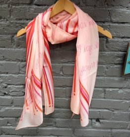 Scarf 100% Silk Scarf- Past & Future