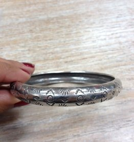 Jewelry Medium Hand Stamped Bangle