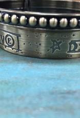 Jewelry Bronze Message Bangles- 2pc