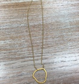 Jewelry Gold Necklace w/ Ring